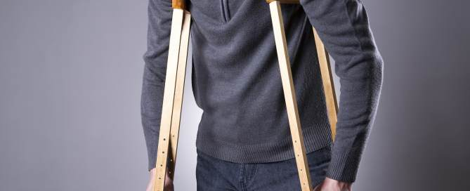 Patients sometimes need Crutches