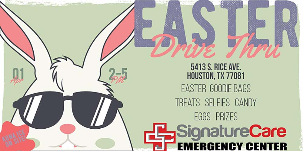 Bellaire, TX Emergency Room Easter Bunny Bash