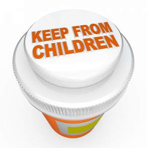 child-proof medicine bottle top - keeping medicine away from children