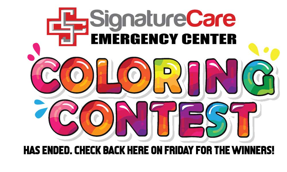 SignatureCare Emergency Center Kids Contest - Has Ended
