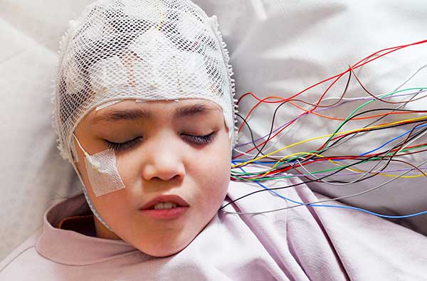 Girl Suffering from Epilepsy being cared for