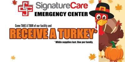 Free Thanksgiving Turkey - SignatureCare Emergency Center