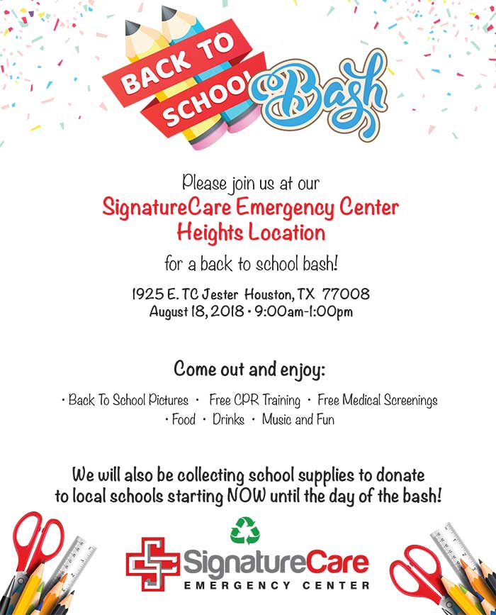 Houston Heights ER Back to School Bash