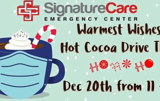 Sugar Land TX Hot Cocoa Giveaway with Santa