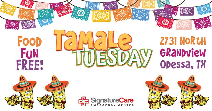 Tamale Tuesday at SignatureCare Emergency Center in Odessa