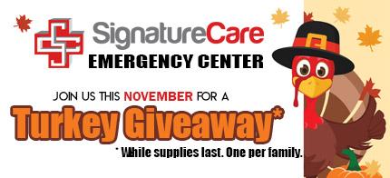 FREE Turkey Giveaway - SignatureCare ER