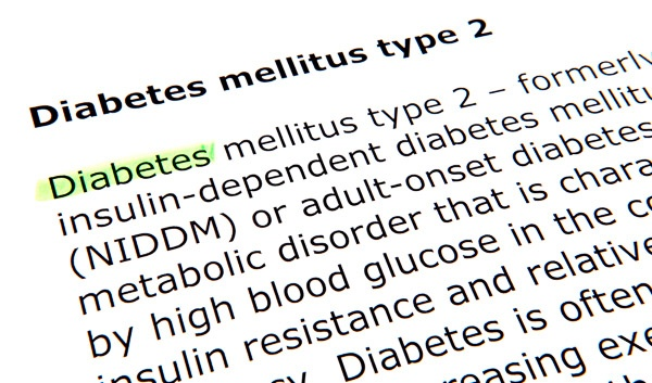 photo of a dictionary definition of type 2 diabetes